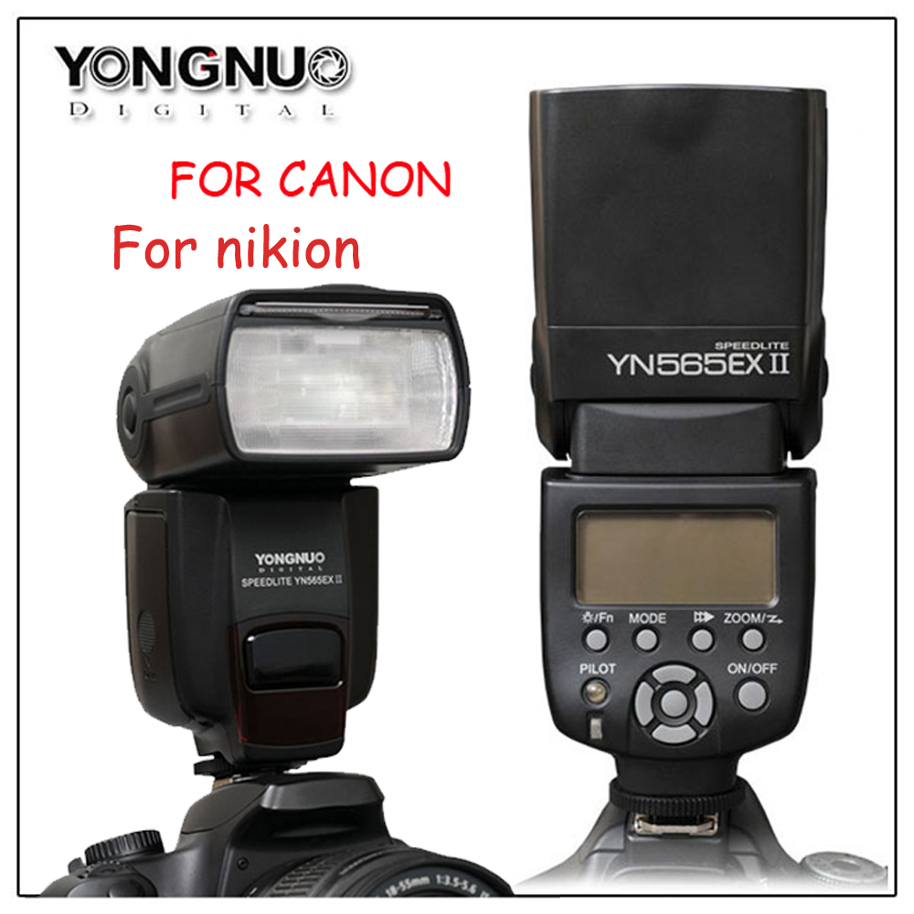 Yongnuo Wireless TTL Flash Speedlight YN-565EX II for Canon 6D 60d 650d YN565EX For Nikon D7100 D3300 D7200 D5200 D7000 D750 D90 yongnuo flash speedlite yn565ex yn 565ex wireless ttl camera flash light for nikon d7100 d5300 d90 d7000 d5200 d3100 d3300 dslr