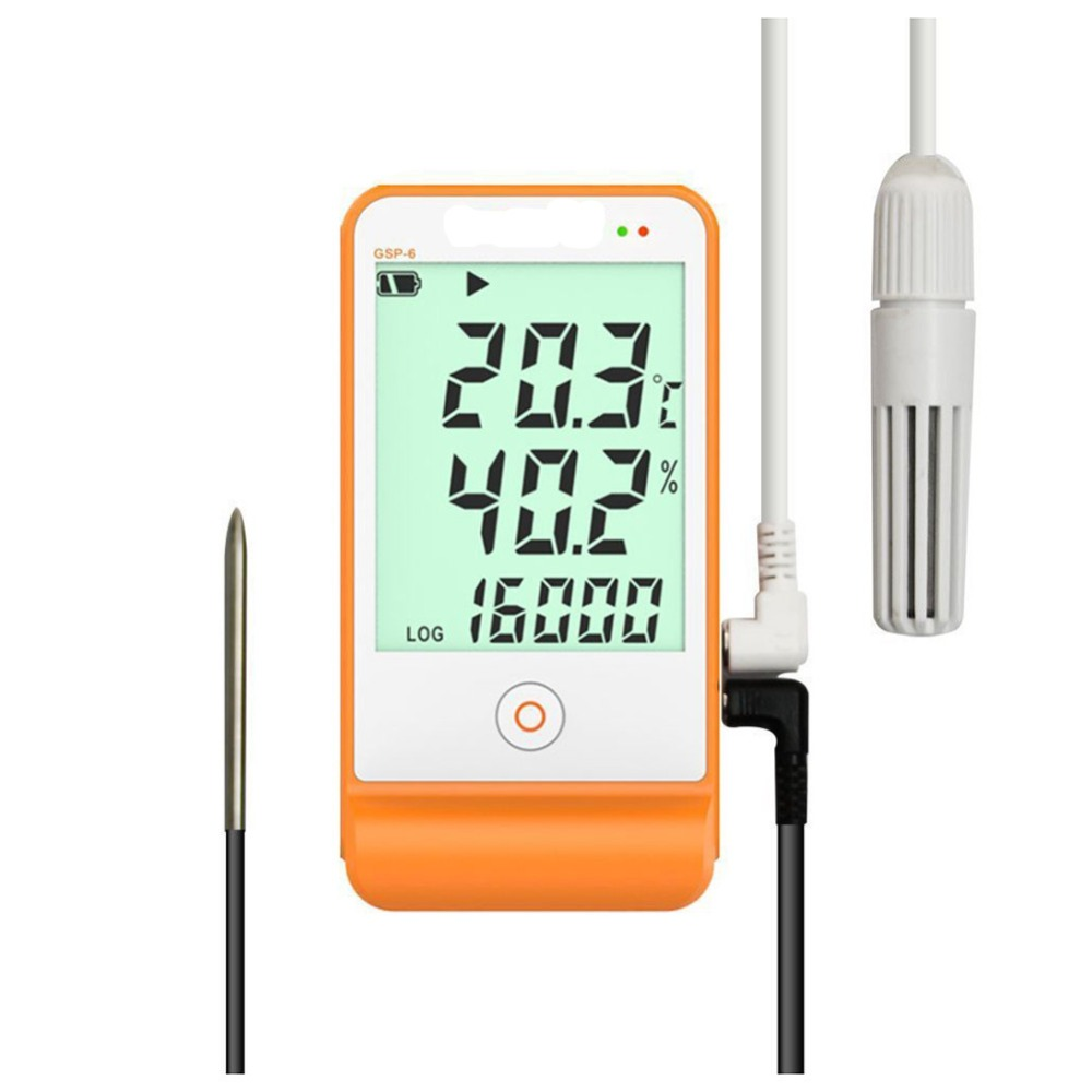 High Sensitivity Data Logger Temperature and Humidity Recorder Digital Handheld 16000 Points Refrig Temperature Testing Meter az 7788 desktop co2 temperature humidity monitor data logger air quality detector