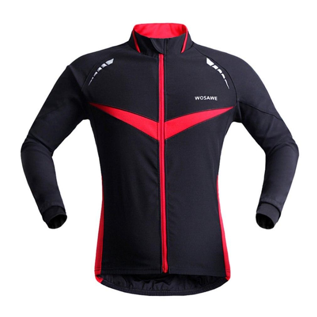 Men Windproof waterproof Cycling Jacket Warm Long Sleeve Cycling Wind Coat Bike Bicycle Jacket Autumn Winter Cycling Dust Coat Cycling Jackets     - title=