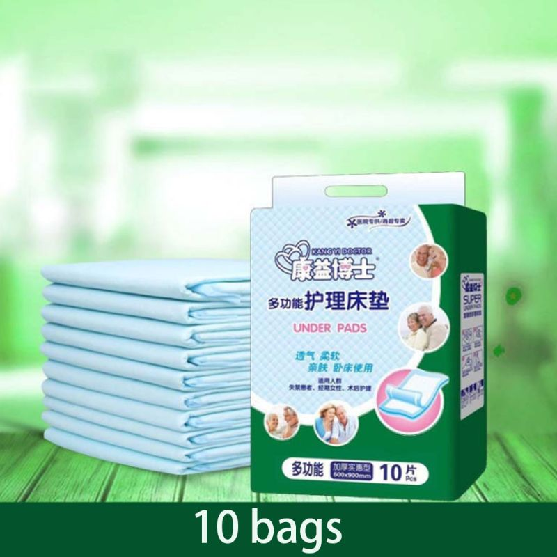 10Pcs 60x90CM Disposable Adult Senior Nursing Urinary Incontinence Urine Pad High Absorbent Breathable Mat Diaper Bed Sheets