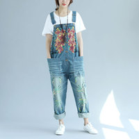 Dungarees women jeans denim overalls women ripped jumpsuit female 2018 embroidered jumpsuits for women 2018 DD1642 S