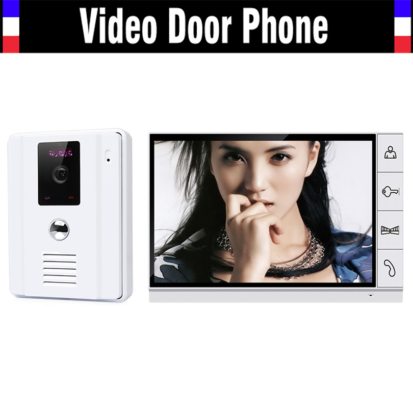 9 Wired Video Door Phone Doorbell Intercom System Video intercom interphone Kit 9 inch LCD Monitor IR Outdoor Camera for villa homefong villa wired night visual color video door phone doorbell intercom system 4 inch tft lcd monitor 800tvl camera handfree