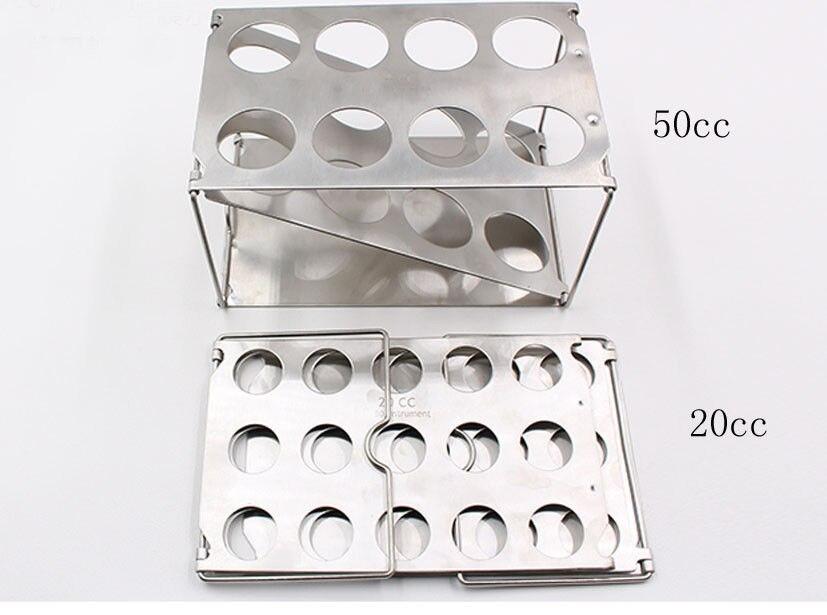 Foldable autoclavable syringe racks display racks 20cc and 50ccFoldable autoclavable syringe racks display racks 20cc and 50cc