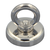 New 66Kg Strong Recovery Magnet Neodymium With Eyebolt Circular Ring 48mm Diameter For Salvage