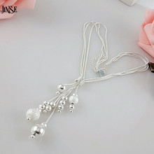 BLS213 Fashion jewelry charm silver plated bead necklace classic high-quality fashion accessories wholesale gift