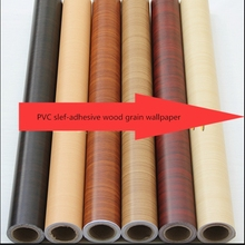 New 100m*90cm home decor Pvc wood grain thickening boeing film wallpaper kitchen cabinet wardrobe furniture stickers wooden door цена