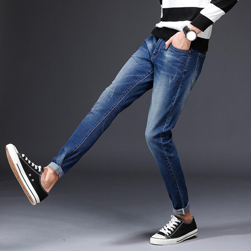 Большой Размеры джинсы Для мужчин новые стрейч хлопок дышащий мужской Демисезонный джинсовые длинные брюки легкие джинсы работы досуг брю...