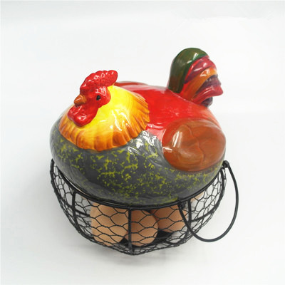 Coquetier en céramique poulet oeuf panier fruits panier collection créative céramique coq oraments décoration cuisine accessoires