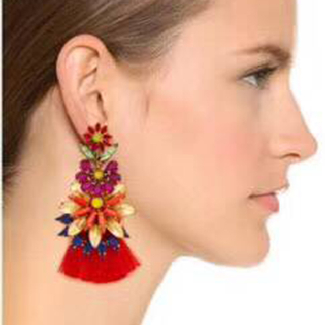 Best lady New Colorful Bohemian Vintage Tassel Earrings for Women Party Gift Hot