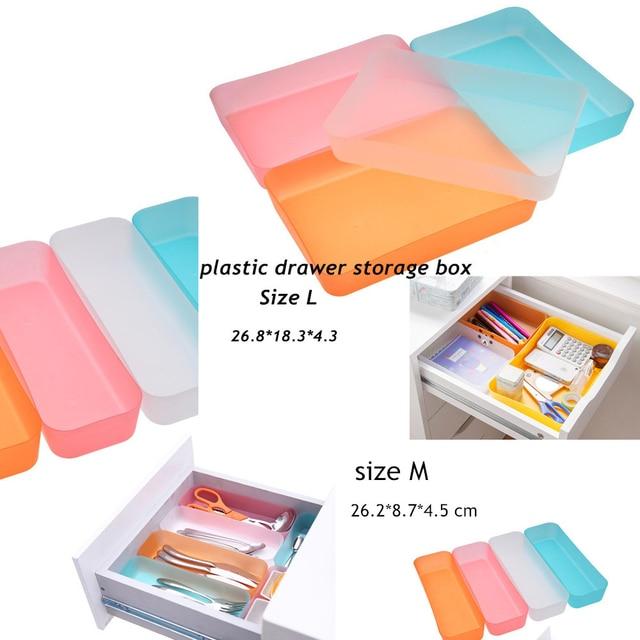 1 stücke Kunststoff schubladen aufbewahrungsbox desktop kosmetik ...