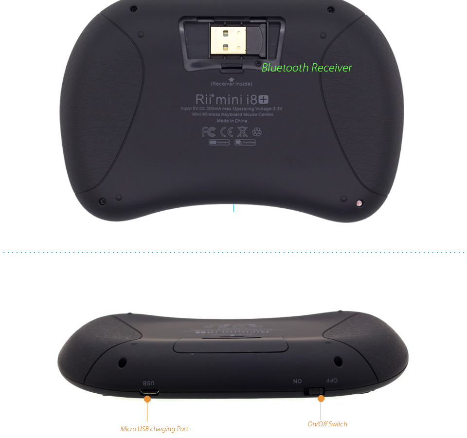 Mini Teclado Bluetooth Sem Fio Air Mouse