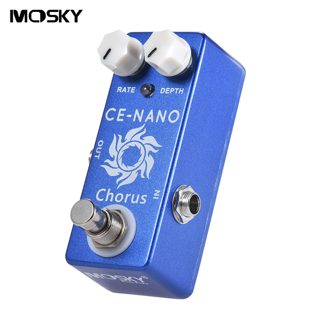 Mosky CE CHORUS Electric Guitar Chorus Effect Pedal RATE/DEPTH Knobs Full Metal Shell True Bypass