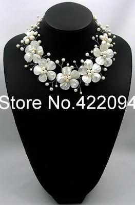 2017 Sale New Copper Necklaces Collier Collares Necklaces & Pendants Pearl Flower Choker Bridal Necklace