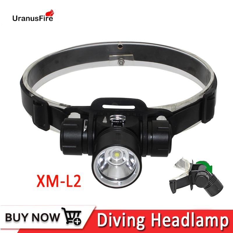Diving headlamp Scuba dive headlight XM-L2 Waterproof LED head lamp Underwater fishing head light lamp