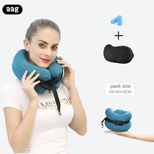 AAG Travel Neck Pillow Memory Foam Headrest U Shape Support Cushion Portable Office Home Airplane Car Nap