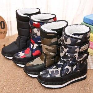 Image 1 - Kinderen Laarzen Jongens Snowboots Meisjes Sport Kinderen Schoenen Voor Jongens Sneakers Mode Lederen Kind Schoenen Kinderen Laarzen 2019 Winter