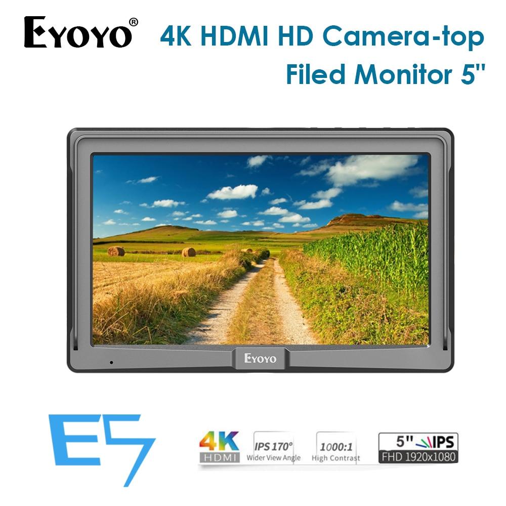 Eyoyo E5 5 pouces IPS HD 1280x1080 DSLR caméra moniteur de champ HDMI 1080 P moniteur de caméra vidéo moniteur 4 k