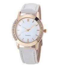 2017 Hot Sale New Faashion Brand Watches Women Luxury Diamond PU Leather Quartz Wrist Dress Montre Femme Clock MAY10