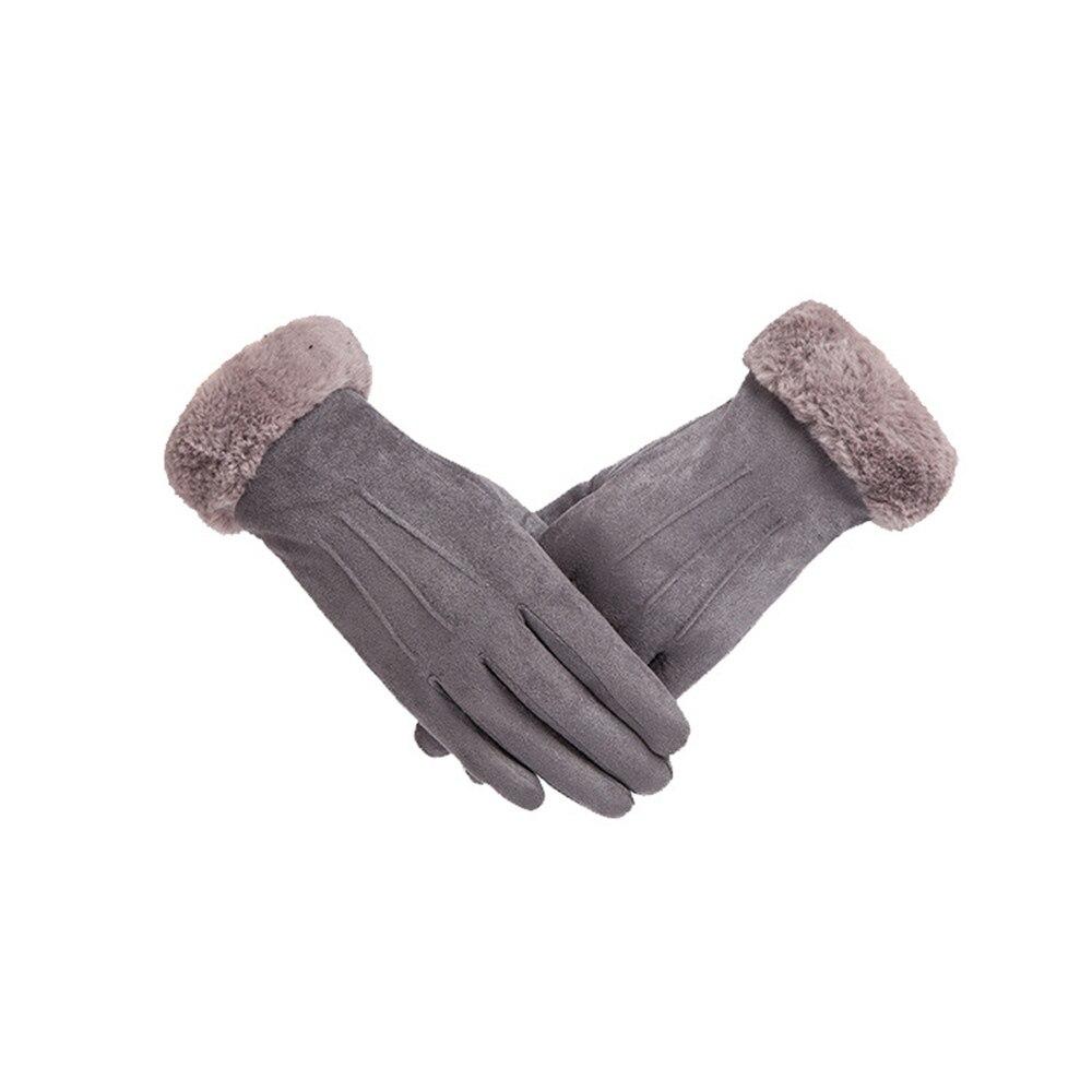 Womens Gloves Winter Thicken Warm Fashion Gloves Non-slip Wearable Gray Deerskin Touchscreen Outdoor Protective Work GlovesWomens Gloves Winter Thicken Warm Fashion Gloves Non-slip Wearable Gray Deerskin Touchscreen Outdoor Protective Work Gloves