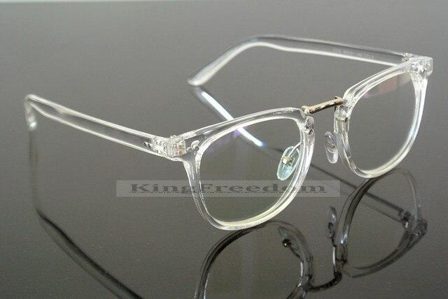 d9eec1ea77 US $11.24 25% di SCONTO|Retro Trasparente Occhiali Cerchio Full Frame  Occhiali Occhiali Da Vista donne degli uomini Rx in grado di in Retro ...