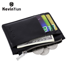 KEVIN YUN Designer Brand Luxury Men Card Holder Leather Credit ID Card Case Pocket Wallet Slim