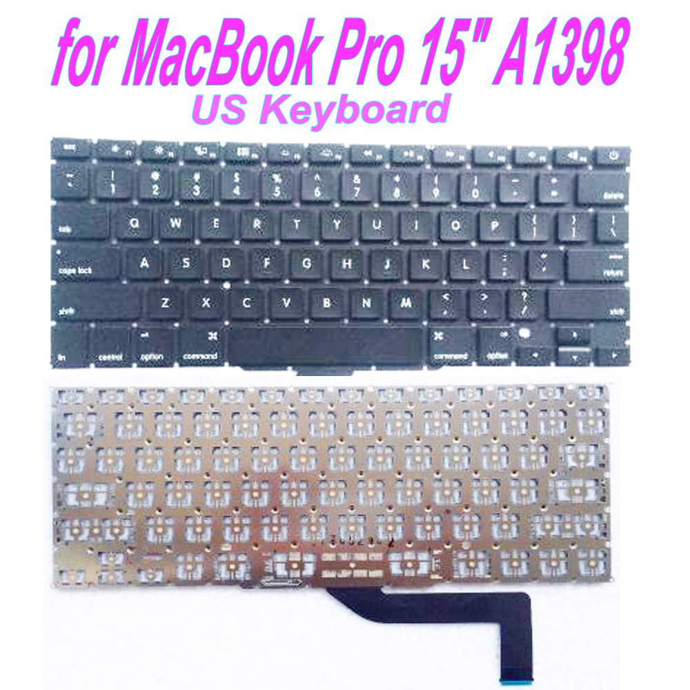 Starde New A1398 US Keyboard for MacBook Pro 15 A1398 2012 2013 2014 2015 image