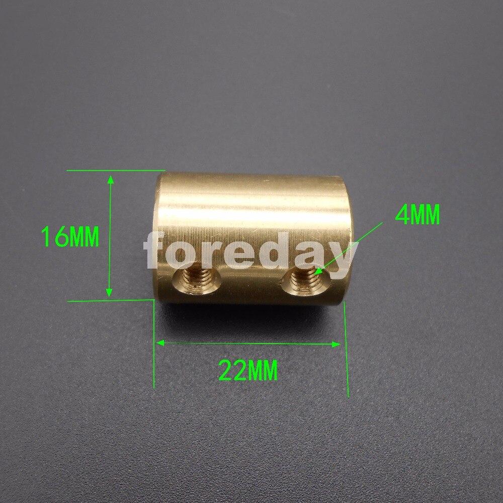 5mm auf 8mm Starre Wellenkupplung aus Messing