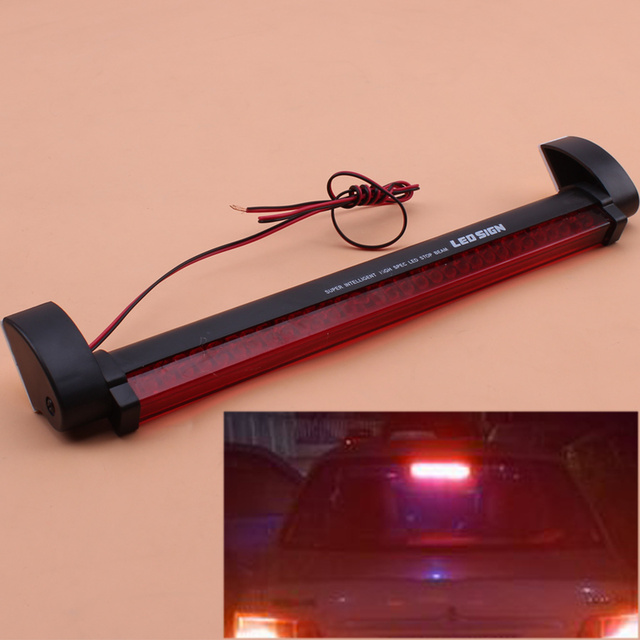 US $8 23 8% OFF Car Styling Red 32LED Third Brake Light Bar External Fog  Lamp Stop Tailgate High Mount Rear Roof Warning Light Universal Fit 1pc-in