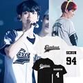 Nuevo Planeta No. 3 exo kpop EXO Xiumin Chanyeol Sehun Baekhyun verano mujeres de la camiseta de las mujeres k pop k-pop camisa de Tes superior Harajuku