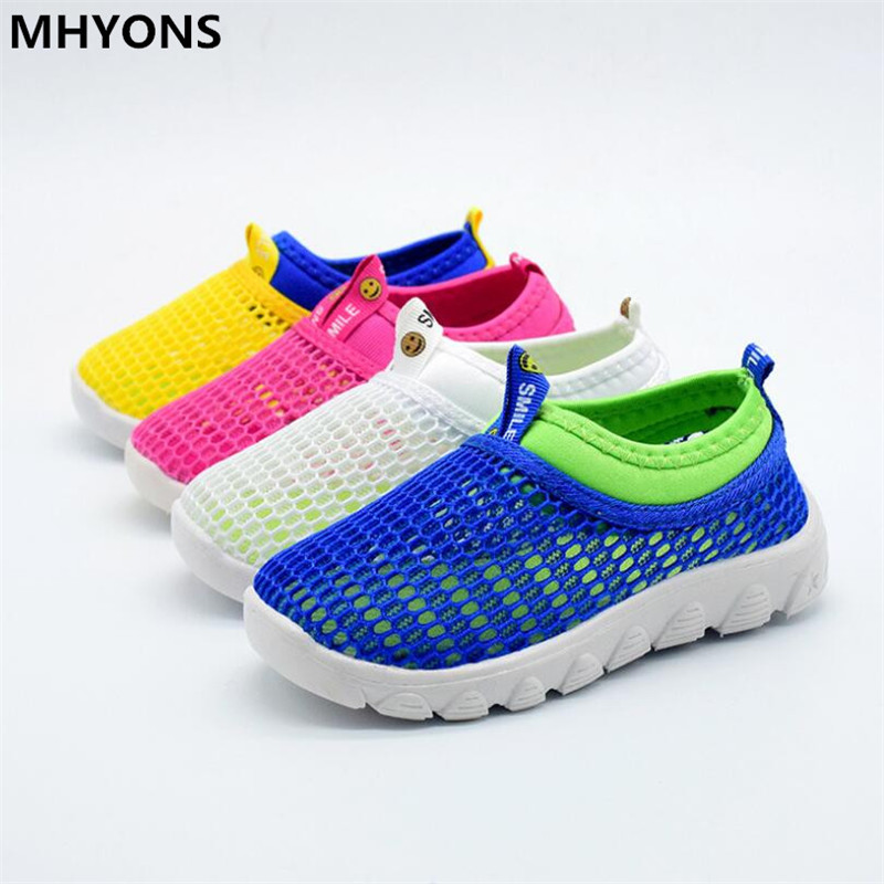 Children Shoes Girls Boys Casual Shoes Summer 2019 Fashion Candy Color Breathable Mesh Kids Sports Shoes Boys Girls Sneakers