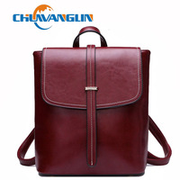 Chuwanglin Fashion Genuine Leather backpack women school bags casual feminine backpacks travel bag mochila feminina S5076