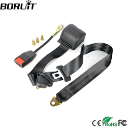 BORUiT العالمي 3 نقطة مقعد السيارة حزام حزام أمان تمديد السيارات سيارة سلامة حزام الأمان موسع مشبك قفل عدة