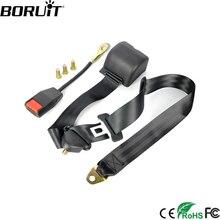 BORUiT Универсальный 3 точечный автомобильный тканая лента для ремней безопасности удлинитель ремня Авто безопасности натяжитель ремня безопасности Пряжка замок комплект