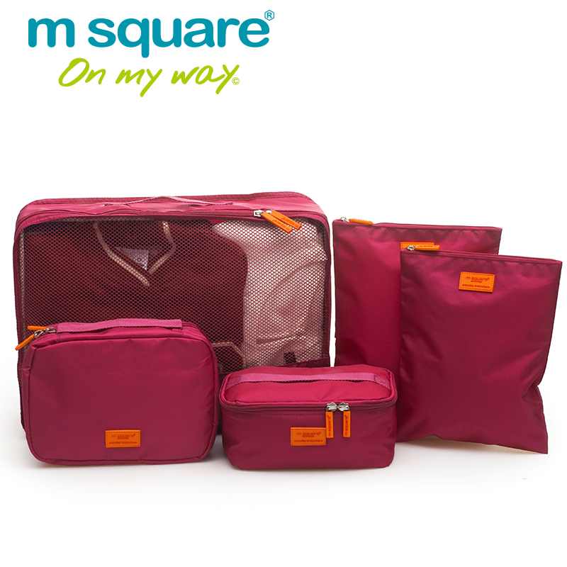 M алаңы 5pcs Travel Packing Cube Set Unisex Әйелдер - Багаж және саяхат сөмкелері - фото 3