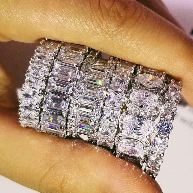 Original design 925 sterling silber hochzeit band eternity Ring für Frauen feste engagement jahrestag mode schmuck R4876S
