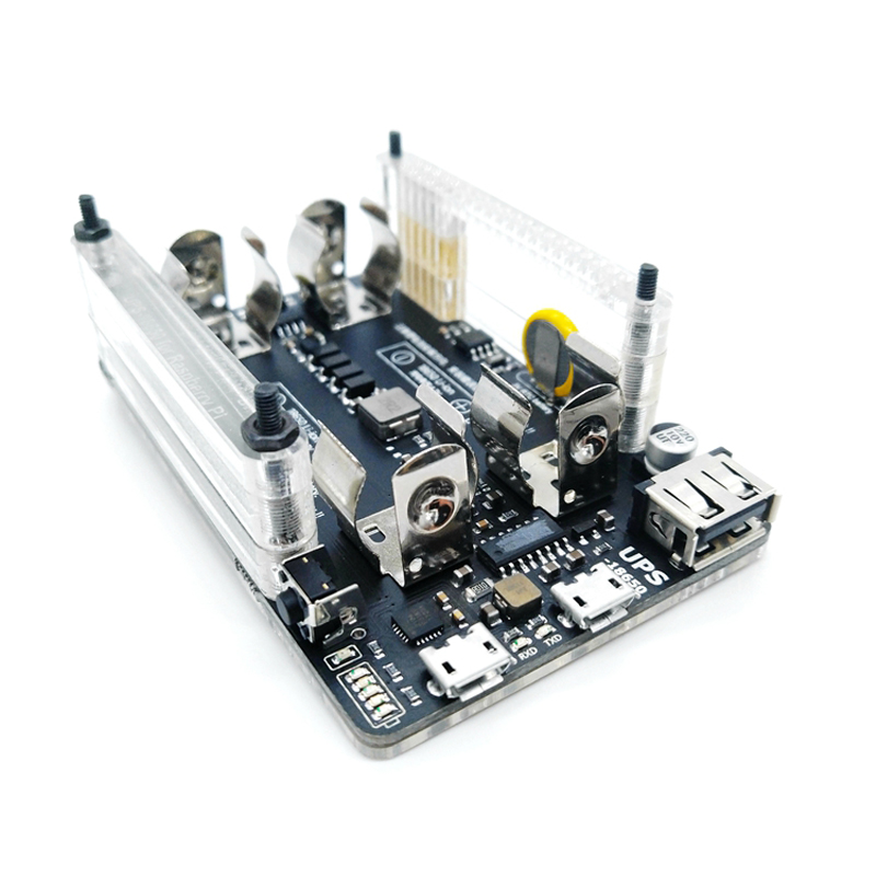 UPS Power Extension Board With RTC, Measurement, 5V Output, Serial Port Function 5V 3A+USB Data Cable Raspberry Pi 2 Pi 3 B +
