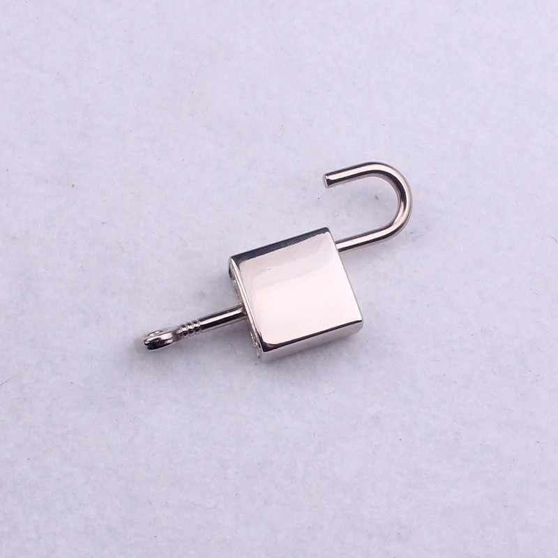 1 máy tính 2*3.5cm thép không gỉ Khóa móc gài charm DIY trang sức làm móc khóa chìa khóa Phụ kiện Đá hiphop phát hiện thả con tàu OK di112