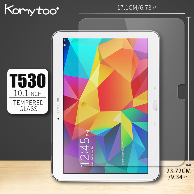 Ultra Clear Tempered Glass For Samsung Galaxy Tab 4 10.1 SM T530 T531 T535 Screen Protector Clear Protector Glass For Samsung screen protector for moto x4 high sensitivity clear premium tempered glass
