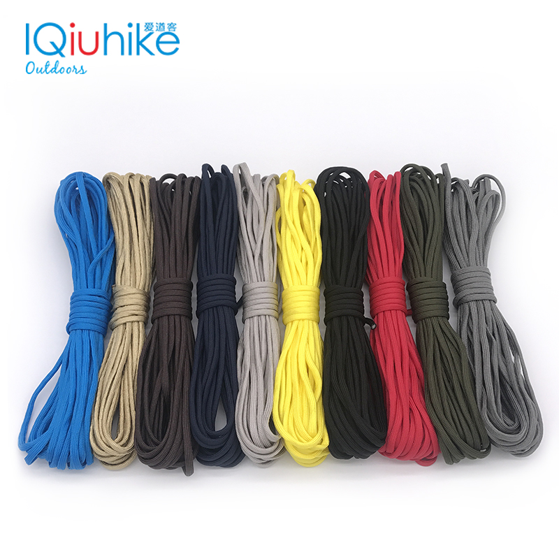 Paracord Survival Paracord Seven Cores Umbrella Rope Crafting Kit Nylon Military Parachute Cord 7 Meters, Camouflage Color