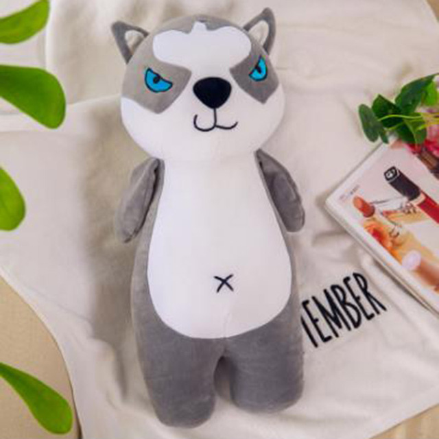 Cute Plush Animal Shiba Inu Dog Pillow Soft Toys Plush Husky Doll Toys  for Kids
