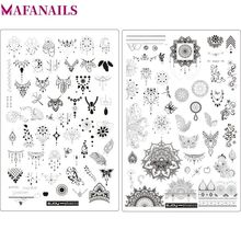 2018 New Big ZJOY Plus Series Nail Art Stamping Plate Flower + Butterfly Pattern Plates DIY Templates 008#