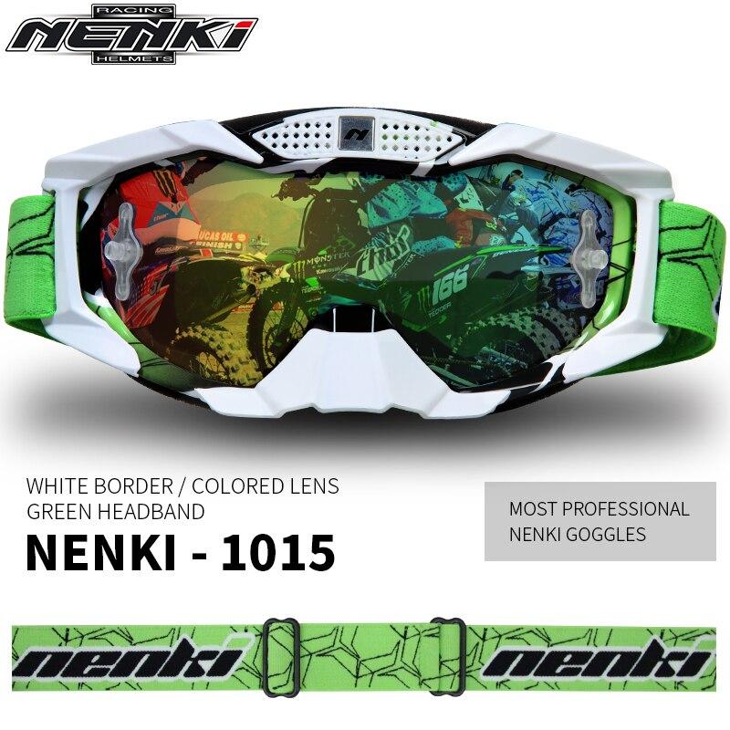 Lunettes de Motocross de marque Nenki lunettes de moto hors route oculos Motorbiker Gafas casque lunettes - 3