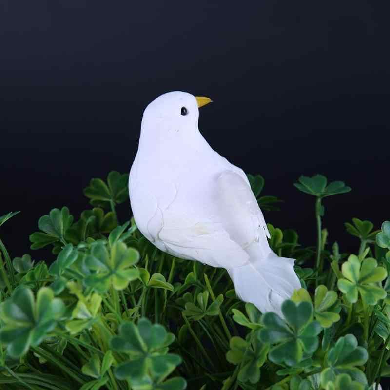 1 Pcs Wedding Decorative Doves Artificial Foam Feather Mini White Birds Craft Birds DIY Wedding Party Decorations Home Ornaments