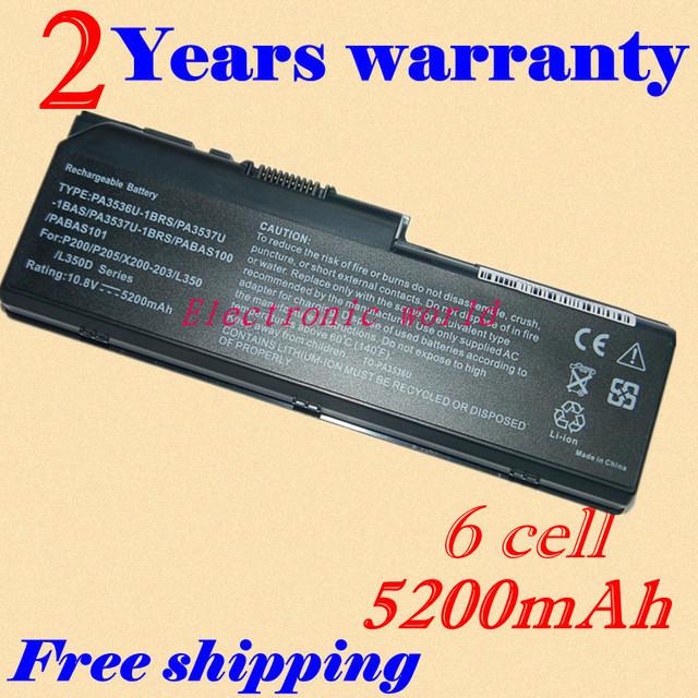 Jigu nova bateria de 6 células laptop pa3536u-1brs pa3537u-1bas pa3537u-1brs pabas100 pabas101 para toshiba equium l350-10l p200 p300-16t