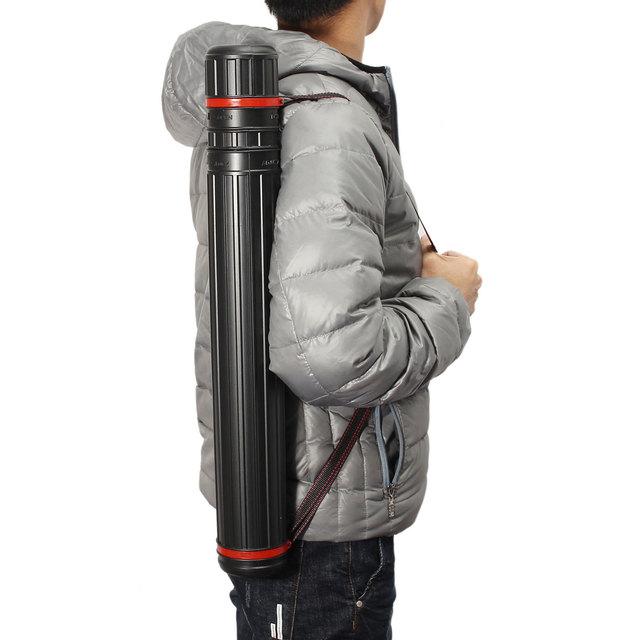 65cm-105cm PE Telescopic arrow archery holder Arrow Tube Hunting Bag quiver for 20pcs arrows with Adjustable back strap