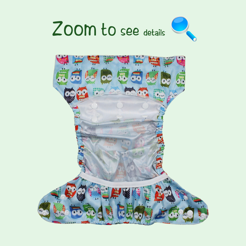 Reusable Diaper Nappy-Cover Cloth Bloomz Baby Littles One-Size Flat New with Or Fitted