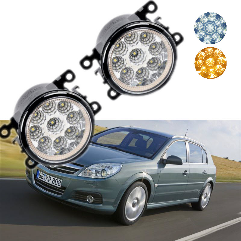 For Opel Signum OPC 2006 2007 2008 9-Pieces Leds Chips LED Fog Light Lamp H11 H8 12V 55W Halogen Fog Lights Car Styling for opel astra h gtc 2005 15 h11 wiring harness sockets wire connector switch 2 fog lights drl front bumper 5d lens led lamp