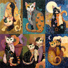 Diamond Embroidery mosaic NEW 5D Cartoon Cat images Home Decor diy diamond painting cross stitch handicrafts hobby new year gift diamond embroidery 5d shepherd dog image painting mosaic cross stitch gift needlework home decoration hobby handicrafts