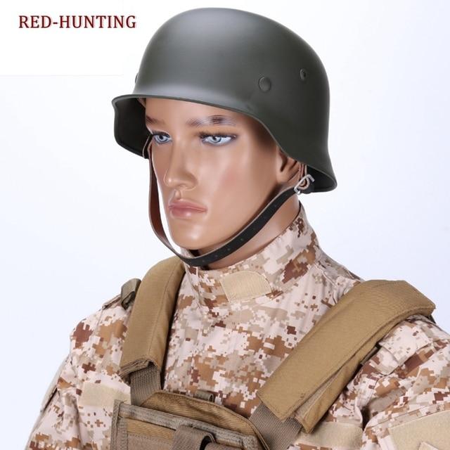 US $56 24 24% OFF|Tactical Military CS Paintball Gear Game Ww2 German Elite  Wh Army M35 M1935 Steel Helmet Stahlhelm Black-in Helmets from Sports &