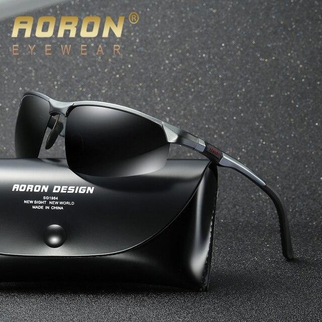 fa7a8f844c AORON 2018 Men s Glasses Polarized Sunglasses For Men Brand Vintage Alloy Sun  Glasses Retro Luxury Male HD Goggles Oculos De Sol